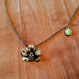 Fossil orchid necklace